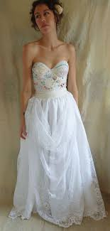 corset wedding dress meadow bustier wedding gown dress boho whimsical woodland