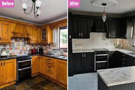 painting kitchen cabinets frenchic to be transforms drab kitchen with frenchic paint b q