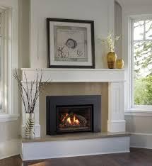 white gas fireplace binhminh decoration