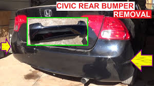 honda civic rear rear bumper cover removal and replacement honda civic 2005 2006