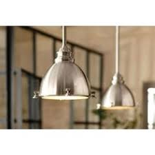 Pendant Lighting For Kitchen Islands Shop Allen Roth 6 In W Brushed Nickel Mini Pendant Light With