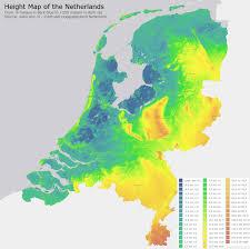 Holland Map Height Map Of The Netherland Dutch Maps Pinterest Netherlands