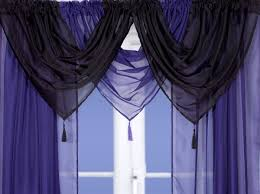 Aubergine Curtains Aubergine Purple Voile Swags And Tails Nets And Curtains Direct 2 U