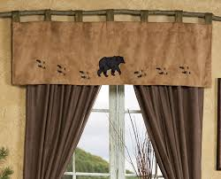 wildlife tracks bear valance