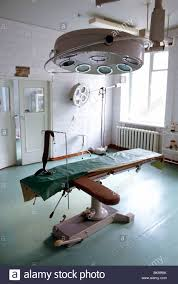 hospital operating room in the former soviet union town of
