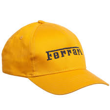 ferrari hat ferrari boys yellow u0026 navy blue logo cap childrensalon