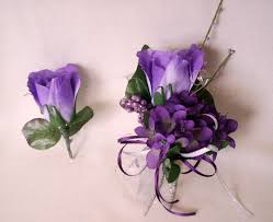 Prom Flowers Purple Prom Corsages Prom Flowers Purple Homecoming Corsages By