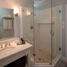Bathroom Corner Showers Bathroom Fair Picture Of White Decoration Using Corner Glass