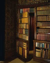 oxburgh hall the library view of the victorian bookcases showing