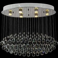 Crystal Light Fixtures Dining Room - rectangular contemporary chrome crystal chandelier for living room