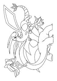 dessin à colorier de trois pokémons drattak libégon et kirlia