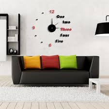 modern rome home decor clock stickers contrast color diy clocks