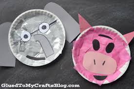 paper plate elephant u0026 piggie kid craft