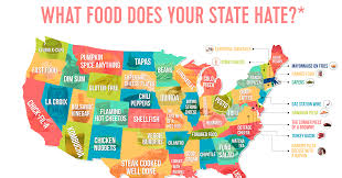 Map Of Timezones In The United States by Do You The Same Food Your State Hates