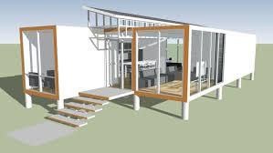 amplia vista previa del modelo 3d de container house sketchup