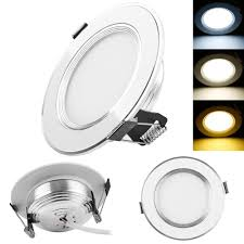 change ceiling light to recessed light dimmable 3w 5w 7 w 9w 3 color led panel down light recessed ceiling
