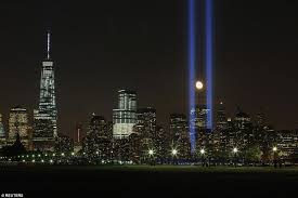 world trade center lights new york city skies light up in remembrance to mark 13th anniversary