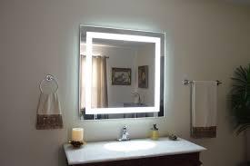 Lighted Bathroom Mirrors Awesome Lighted Bathroom Mirror Brass Dkbzaweb