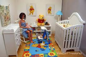 winnie the pooh bedroom fashion dolls at van s doll treasures chloe s winnie the pooh nursery