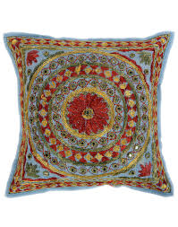 Orange Pillows For Sofa by Amazon Com Ethnic Pillow Case Vintage Set Of 5 Pillow Cover Multi