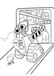 wall e home coloring pages for kids printable free coloing