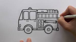 how to draw a cartoon fire engine fire truck youtube