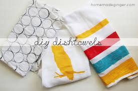 kitchen craft diy dishtowels