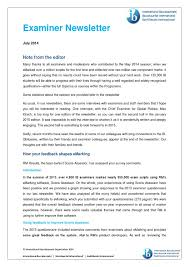 july 2014 examiner newsletter english by international