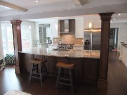 kitchen islands with columns kitchens with columns crafty design ideas 16 dining room