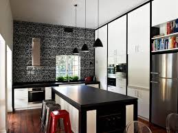 romantic and modern home kitchen with large size and cafe decor