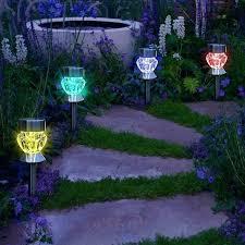 solar path lights reviews solar backyard lighting solar led landscape lights reviews solar