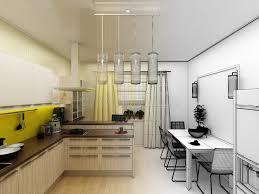 cuisine moderne jaune concept 3d intérieur de cuisine moderne jaune illustration stock