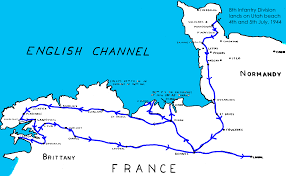 Map Of Brittany France by 8th Division Maps