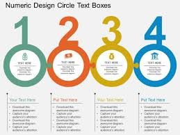 Numeric Design Circle Text Boxes Powerpoint Template Powerpoint Ppt Tempelate