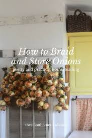 how to braid and store onions onions homesteads and gardens