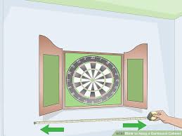 best dart board cabinet how to hang a dartboard cabinet 13 steps with pictures