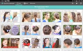 cute girls hairstyles android apps on google play