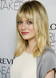 pictures on medium length haircut for round face cute