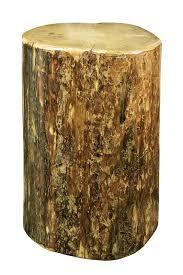 tree stump accent table loon peak tustin cowboy stump end table reviews wayfair