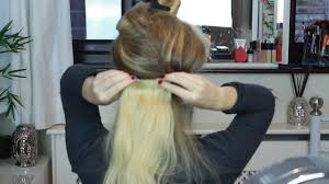 Make Clip In Hair Extensions by How To Create A Quick Low Bun Using Clip In Hair Extensions