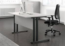 top office bureau essentiel 120 symmetrical top office desk with metal modesty