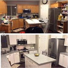 painting cabinets white before and after best paint for kitchen cabinets white amazing painting old kitchen