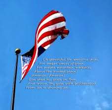 Painting A Flag America The Beautiful Us Flag By Sharon Cummings Song Lyrics