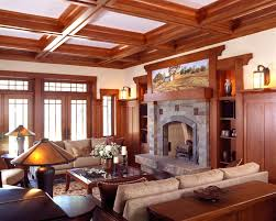 arts and crafts style homes interior design craftsman living room favorite places spaces