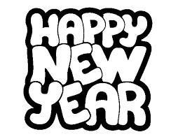 happy new year coloring page coloringcrew com