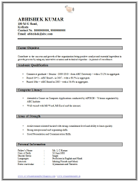simple resume format free in ms word simple resume format for freshers free listmachinepro