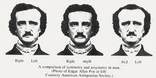 Edgar Allan Poe Meme - edgar allen poe s face is interestingly unsymmetrical