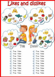 english exercises healthy foods