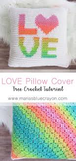 free crochet patterns for home decor love pillow cover free crochet pattern red heart super saver