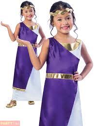 Mythical Goddess Girls Costume Girls Costume Toga Fancy Dress Child Ebay